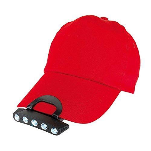 5 LED Cap Light Kopflampe Stirnlampe für Mützen NEU-Verstellbare Beleuchtungswinkel