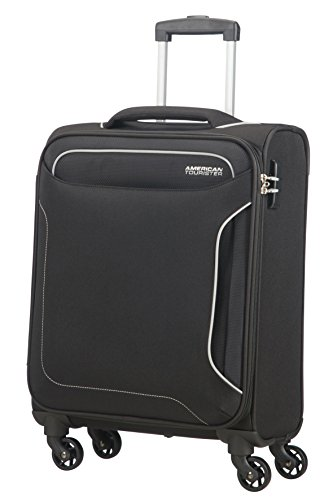 American Tourister Holiday Heat Bagaglio a Mano, Spinner S (55cm-38L), Nero (Black)