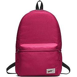 Nike NK Heritage BKPK-Label Mochila, Adultos Unisex, Rush Pink/Black/Orange Blaze, One Size