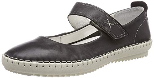 camel active Damen Ethnic 71 Mary Jane Halbschuhe , Schwarz (Black 2) , 37 EU (4 UK)