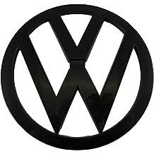 Emblema de Volkswagen, 110 mm, color negro brillante