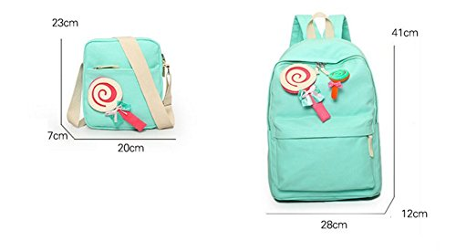 Ohmais 2PCS Rücksack Rucksäcke Rucksack Backpack Daypack Schulranzen Schulrucksack Wanderrucksack Schultasche Rucksack für Schülerin pink