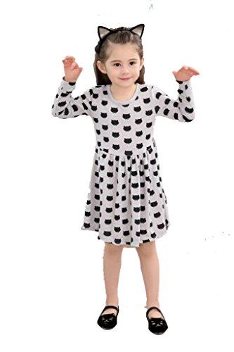 Minipark Mädchen Kleid, grau
