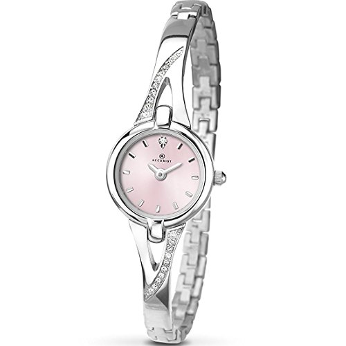 Accurist Ladies Watch 8038 - Pink Mother of Pearl Dial - Semi bangle Bracelet