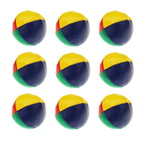Sonnenscheinschuhe® 9 teiliges Jonglierball Set Kickball Ball Jonglierbälle Jonglieren Lernen Zirkus