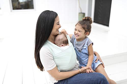 Ergobaby Baby-Tragetuch für Neugeborene bis 11 kg, Elastisches Babytragetuch Sage Atmungsaktiv aus 100% Viskose, Sling für Tragetuch Neulinge - 4