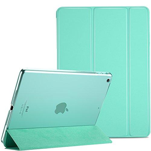 ProCase iPad 9.7 Hülle 2018 iPad 6 Generation /2017 iPad 5 Generation Tasche - Äußerst Schlank Leichtgewicht Ständer mit Transluzent Matt Rückseite Intelligente Hülle für Apple iPad 9.7 Zoll -Mint