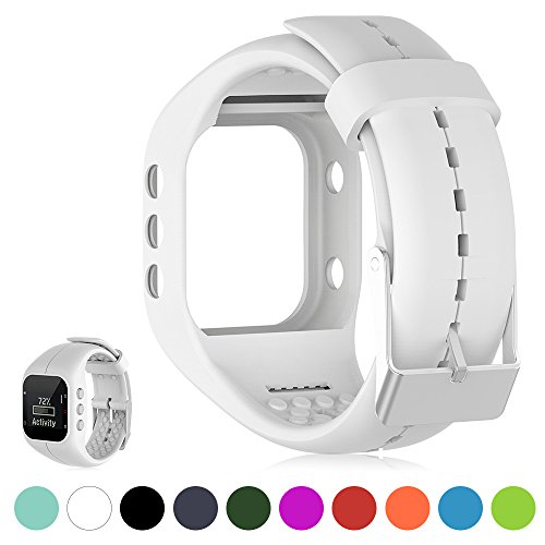 iFeeker Für Polar Pulsuhr A300 Smart Watch Ersatz Uhrenarmband Weich Silikon Gummi Uhrenarmband Armband Tasche für Polar Pulsuhr A300 Smart Watch (Nur Band, kein Tracker)