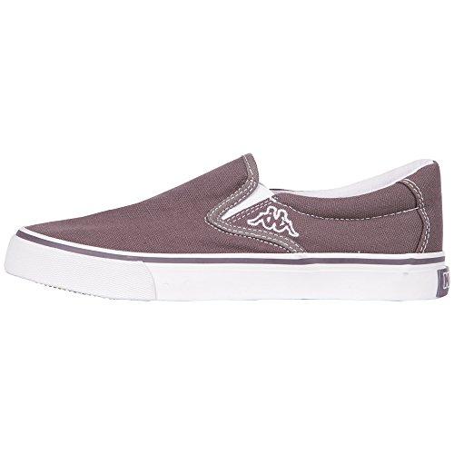 Kappa PEAK Footwear Unisex-Erwachsene Sneakers Grau (1310 ANTHRA/WHITE)