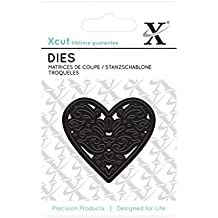 Xcut Troquel en Forma de corazón diseño de Filigrana de Flores
