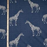 StoffHandwerker Jacquard Strick - Giraffe Blau