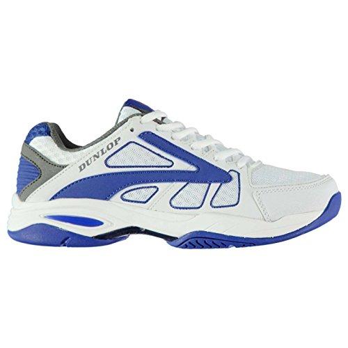Dunlop Herren Flash Classic Tennis Schuhe Turnschuhe Sport Tennisschuhe Weiß/Blau