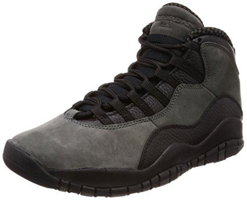Nike Herren Air Jordan 10 Retro Dunkelgrau Leder/Synthetik/Textil Sneaker 44 (Air Jordan 10)