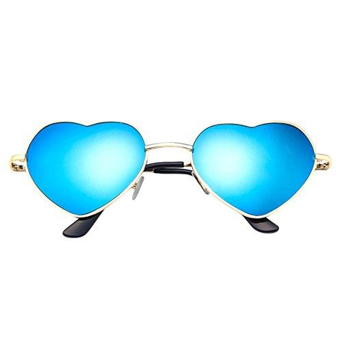 Sunglasses,Ba Zha  Mens Womens Metal Frame Ladies Heart Shape Sunglasses Lolita Love Sunglasses Sports Outdoors Sunglasses Vintage Eyeglasses Clear Cycling Sport Sunglasses Party Club Eyewear