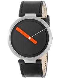 Alessi Herren-Armbanduhr Analog Quarz Leder schwarz AL18011