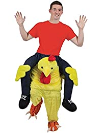 FUNKY CHICKEN CARRY ME MASCOT FANCY DRESS COSTUME
