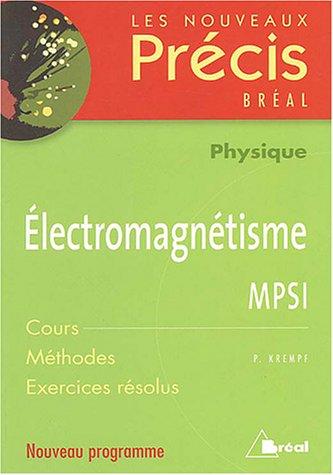 Electromagnétisme MPSI