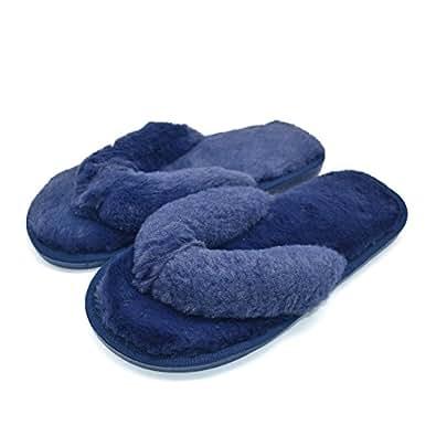 coface damen elegantes bett hausschuh warmer pl schfell flip flops baumwolle pantoffel. Black Bedroom Furniture Sets. Home Design Ideas