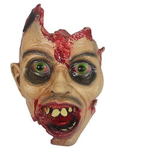 OOFAY Halloween Horror Head Requisiten Kreatives Geld Lustig Make-Up Prom Requisiten Eco Latex Material Warcraft Ghost Scary Maske Karneval Weihnachtsfeier Dekor,A