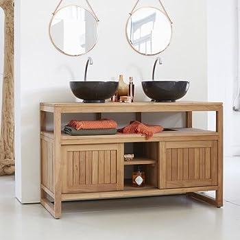 tikamoon colonial meuble salle de bain teck beige. Black Bedroom Furniture Sets. Home Design Ideas