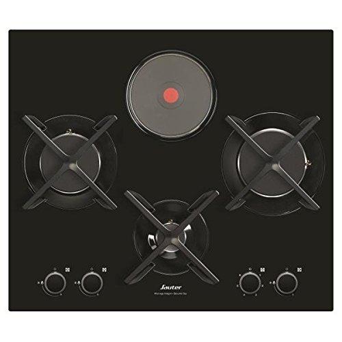 Sauter SPG4465MB Plan de cuisson encastrable combi noir
