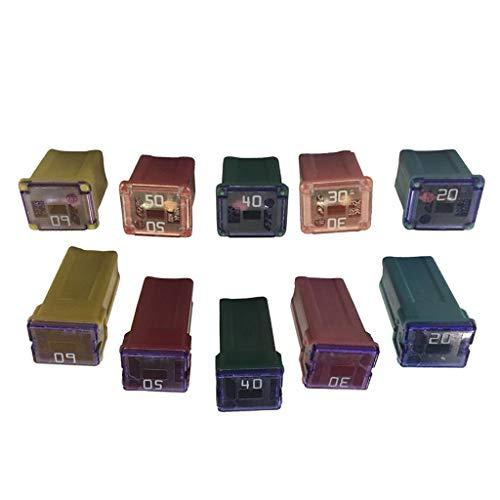 IPOTCH 5 Paar Kfz-Sicherungssatz-Sortiment quadratische Form 20a 30a 40a 50a 60a