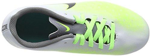 Nike Unisex-Kinder Magista Ola Ii Fg Fußballschuhe Silber (Pure platinum/black-ghost green)