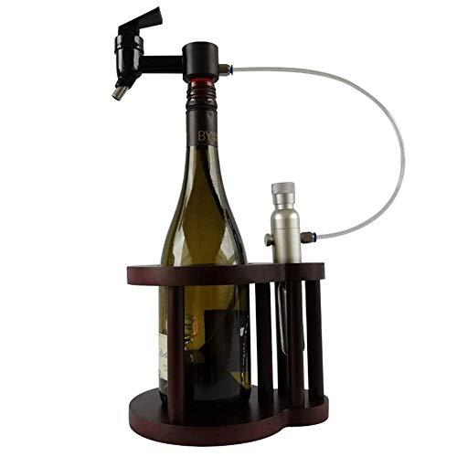 Lucky Big Head YY 1 Flasche Weinkaraffe, Rotwein-Argon-Frischwein-Separator, Tragbares Weinregal Für Den Haushalt, Weinlagerung in Einer Flasche,Polymerbottlejoint