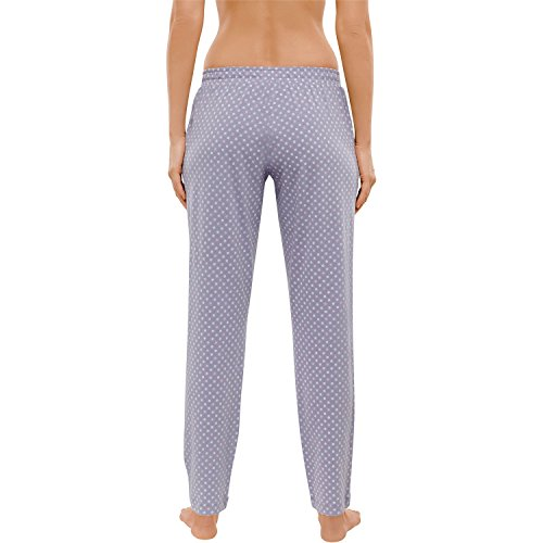 Schiesser Donna Pantaloni pigiama lungo 148937 Grigio chiaro