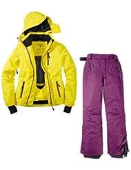 Traje de esquí. Traje de esquí funcional para mujer Talla 42M de 4Color. Amarillo de púrpura traje de nieve