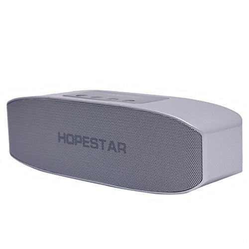 Xiaomi Redmi Note 3 Compatible Hopestar H11 Bluetooth Speaker Wireless Multimedia Stereo Speaker / Pen drive Supported, Connecting with Mobile / Tablet / Laptop / Aux / Memory Card / Pen Drive / FM by Himtronics - Silver