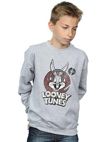 Absolute Cult Looney Tunes Jungen Bugs Bunny Circle Logo Sweatshirt Sport Grau 5-6 Years -