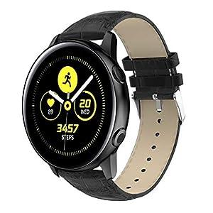 ⌚Ersatzlederarmband mit Armband für Samsung Galaxy Watch Active,Replacement Leather Watch Band Strap Bracelet for Samsung Galaxy Watch Active