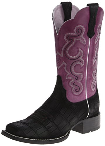 fig Damen Quickdraw Black Ariat Westernreitstiefel Women Buffed qAF181