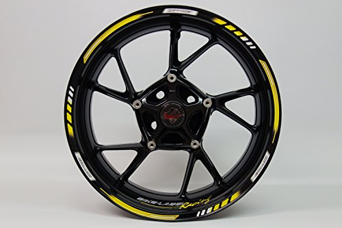 Adhesivos para llantas 710004, rayas en el borde estilo moto GP, Racing...