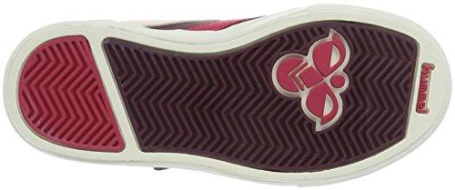 Hummel Stadil Leather Sneaker Jr, Scarpe da Ginnastica Alte Unisex – Bambini Rosso (Chrused Violets)