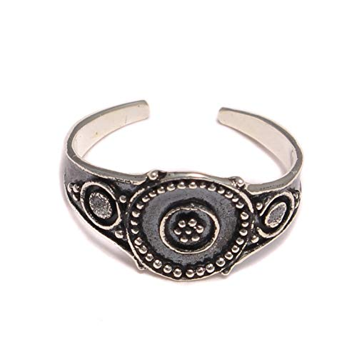 Punkt Ornament Zehenring 925 Sterling Silber, Zehen Ring Fußschmuck, Fuß Schmuck offen anpassbar, boho Fuß Ring