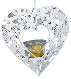 formano Hängedeko Teelichthalter Leoni in Herzform weiß, 18cm
