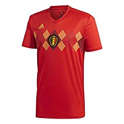 adidas Kinder Belgien Heimtrikot WM 2018, rot/gelb, 128