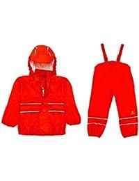 Elka - Conjunto de pesca impermeable para niño rojo rosso Talla:1 a 2 años
