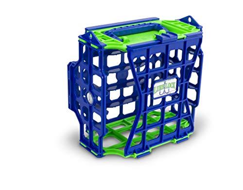 Angelboxen für Köder, klein, mit elastischem Futter, Unisex-Erwachsene, LL3-L, grün/blau, 8 7/8