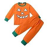 Costume de citrouille de Halloween pour bébé Brother Sister Clothes One Piece Combinaison à manches longues et pantalons à deux pièces par Shiningup
