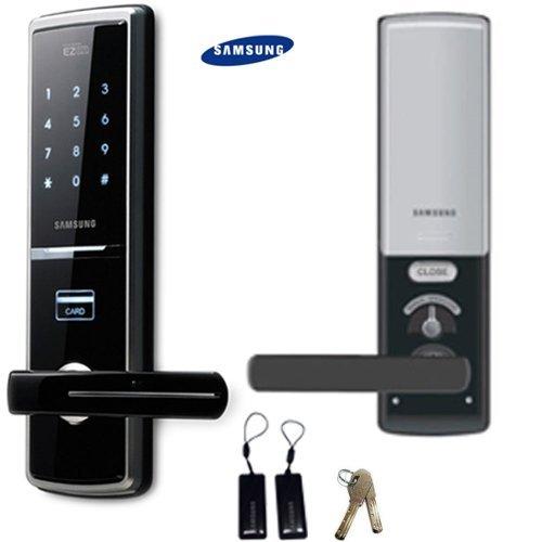 Samsung SHS-H620 Digitales Türschloss EZON + 2 Schlüsselanhänger + 2 Notfallschlüssel Schlüsselanhänger Touchpad