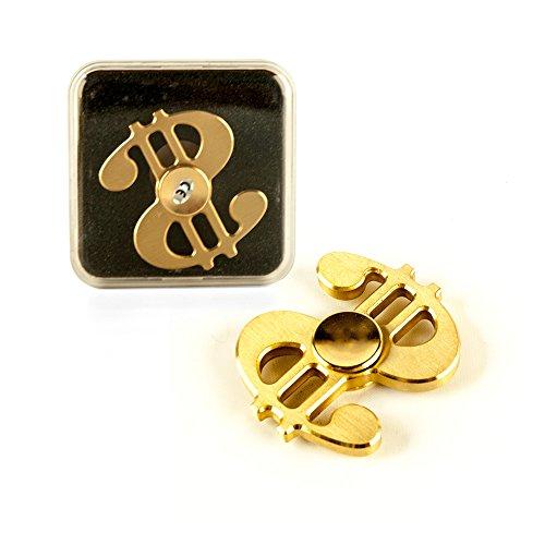 DS24 Premium Spinner Dollar II in Gold - Hand Spinner Metall - Profi Spinner - High Quality DE frei Haus Frei Dollar