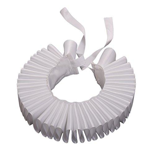 Elisabethanischen Rüschen Hals Kragen Weiß (Viktorianischen ära Halloween-kostüme)