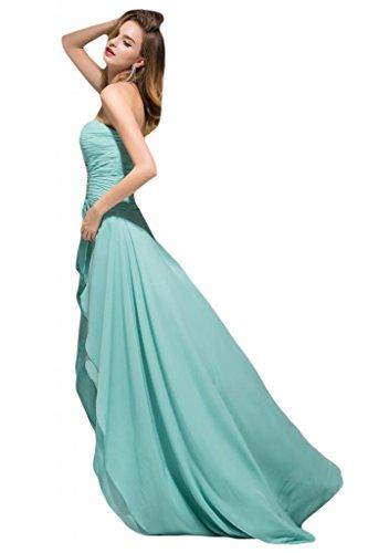 Sunvary Elegant Neu Herzform Hi-Lo Chiffon Abendkleid Partykleider Huntergruen