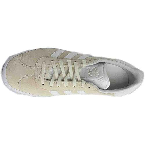 Chaussures Adidas Gazelle, Unisexe, Basse - Athlétique Blanc
