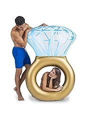 Idea Regalo - BigMouth Inc. - Gonfiabile Bling Ring Anello Giganti | Galleggiante Piscine Spiaggia