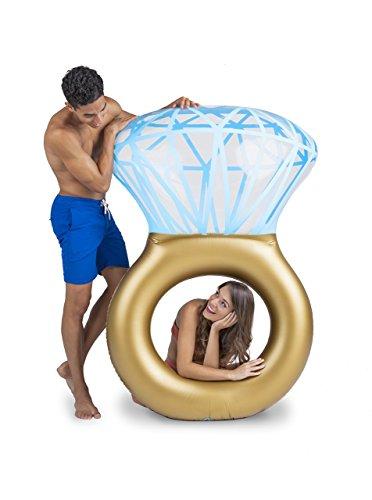 BigMouth Inc – Flotador Hinchable Bling Ring Anillo Gigante – Inflable Colchoneta Piscina Playa