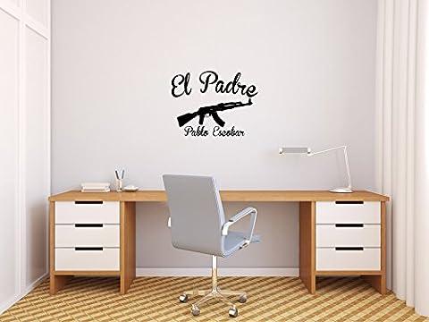 El Padro - Pablo Escobar - Schwarz - ca. 30 x 22,5 cm